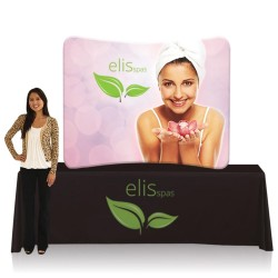 6ft. EZ Tube Trade Show Display – Curve Graphic Package